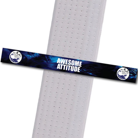 WuTian MA - Awesome Attitude Custom Belt Stripes - BeltStripes.com : The #1 Source for Martial Arts Belt Tape