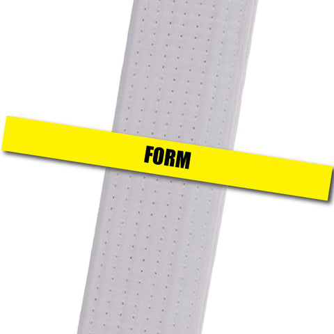 Wyomissing-ATA - Form - Yellow Custom Belt Stripes - BeltStripes.com : The #1 Source for Martial Arts Belt Tape