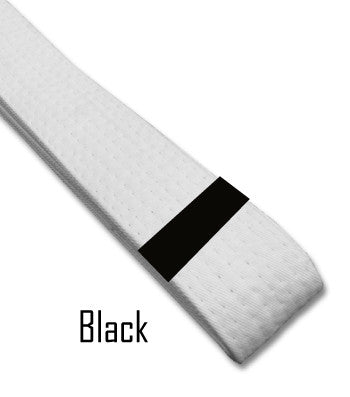 Just For Kicks - Black Belt Stripes (Blank) Blank Belt Stripes - BeltStripes.com : The #1 Source for Martial Arts Belt Tape