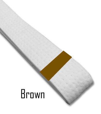 Brown Belt Stripes Blank Belt Stripes - BeltStripes.com : The #1 Source for Martial Arts Belt Tape