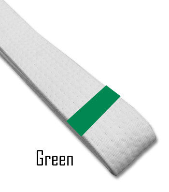 Just for Kicks - Green Belt Stripes (Blank) Blank Belt Stripes - BeltStripes.com : The #1 Source for Martial Arts Belt Tape