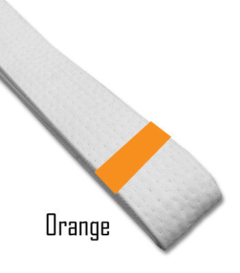 Just for Kicks - Orange Belt Stripes (Blank) Blank Belt Stripes - BeltStripes.com : The #1 Source for Martial Arts Belt Tape