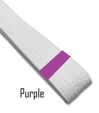 Just for Kicks - Purple Belt Stripes (Blank) Blank Belt Stripes - BeltStripes.com : The #1 Source for Martial Arts Belt Tape