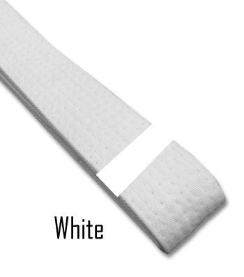Just for Kicks - White Belt Stripes (Blank) Blank Belt Stripes - BeltStripes.com : The #1 Source for Martial Arts Belt Tape