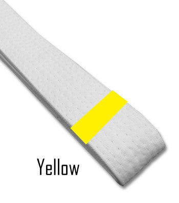 Just for Kicks - Yellow Belt Stripes (Blank) Blank Belt Stripes - BeltStripes.com : The #1 Source for Martial Arts Belt Tape