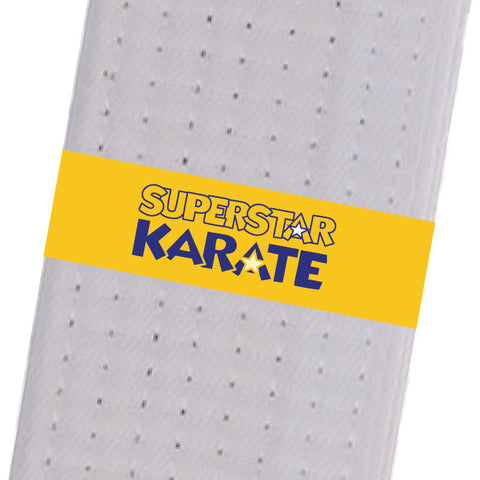 Superstar Karate - Yellow (Logo Only) Custom Belt Stripes - BeltStripes.com : The #1 Source for Martial Arts Belt Tape