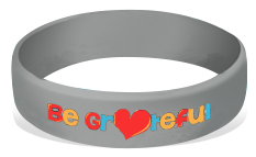 Be Grateful! Silicone Wrist Bands Achievement Stripes - BeltStripes.com : The #1 Source for Martial Arts Belt Tape
