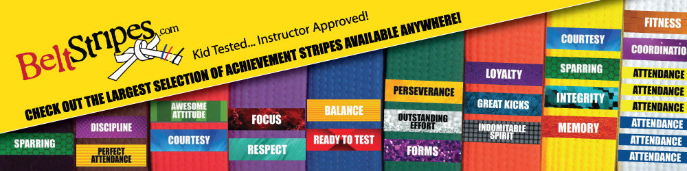Largest Selection of Martial Arts Achievement Belt Stripes