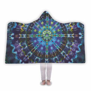 Tie Dye Hooded Blanket Please Allow 2-4 Weeks For Delivery, - Aircooled VW - Vintage Vdub