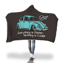 "Load image into Gallery viewer, ""Everything is Faster...Nothing is Cooler"" Vw Bug Blanket, - Aircooled VW - Vintage Vdub"