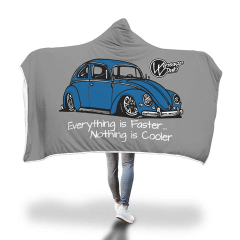 """Everything is Faster...Nothing is Cooler"" Vw Bug Blanket, - Aircooled - Vintage Vdub - Vw"
