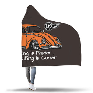 """Everything is Faster...Nothing is Cooler"" Vw Bug Blanket (Hooded), - Aircooled VW - Vintage Vdub"