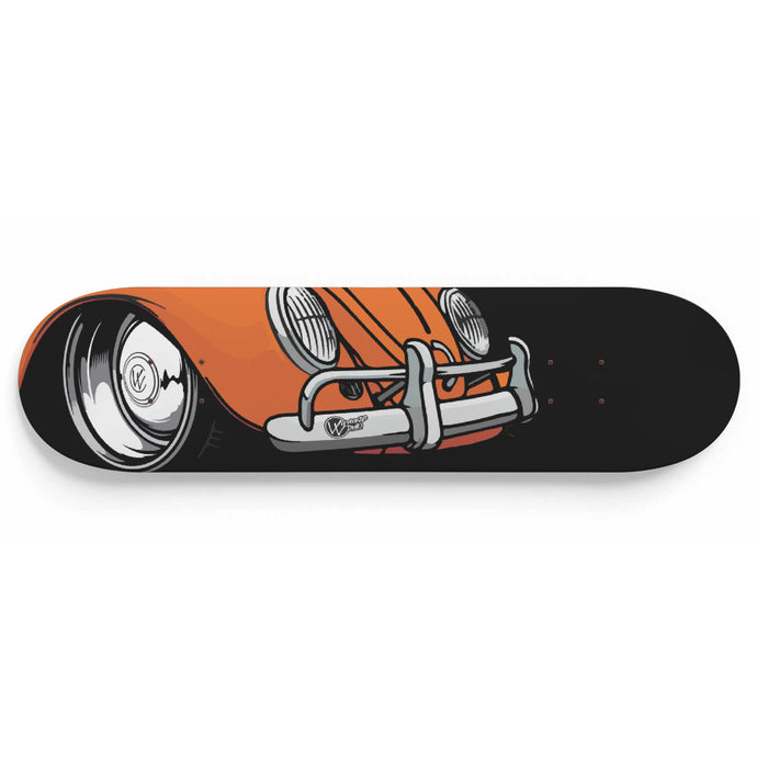 Vintage Bug Skate Deck Orange, - Aircooled VW - Vintage Vdub