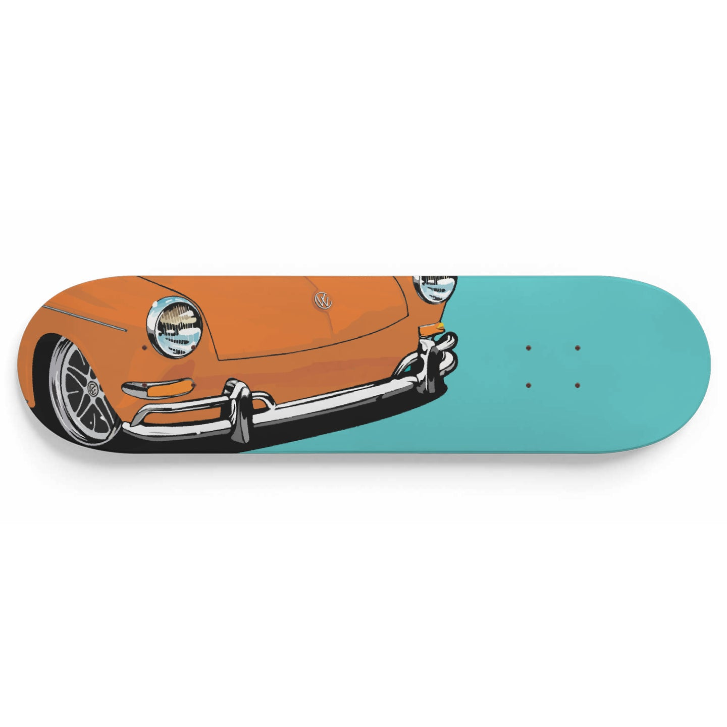 Vintage Squareback Skate Deck Orange/Sea Foam, - Aircooled VW - Vintage Vdub