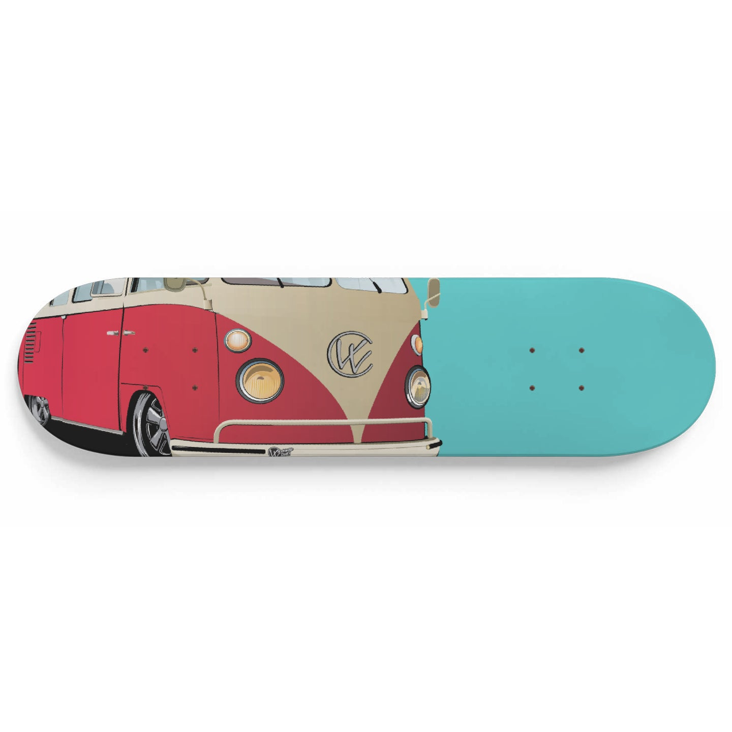 Vintage Splitty Red/Sea Foam, - Aircooled VW - Vintage Vdub