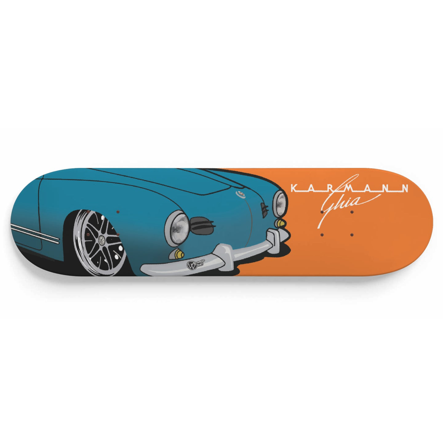 Vintage Ghia Skate Deck Blue/Orange - Vintage Vdub
