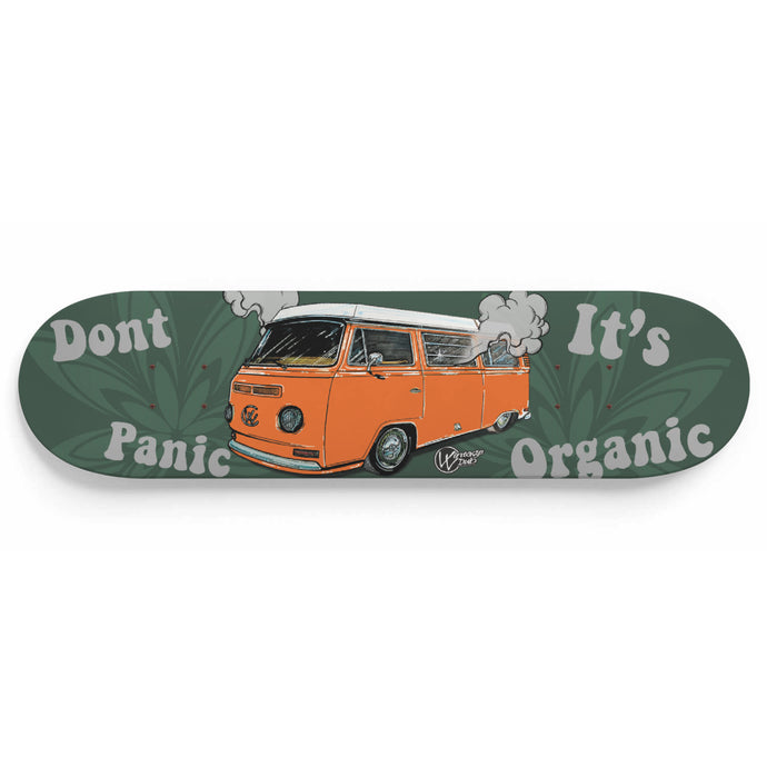 Don't Panic It's Organic Vw Bus Deck Orange, - Aircooled VW - Vintage Vdub