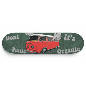 Don't Panic It's Organic Vw Bus Deck Red, - Aircooled VW - Vintage Vdub