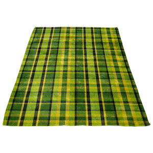 Westy Plaid Fleece Blanket - 50x60, - Aircooled VW - Vintage Vdub