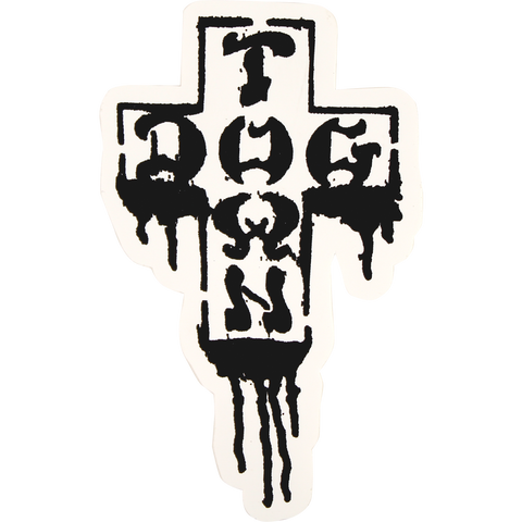 "Dogtown ""Cross Drip"" Sticker 4 in."