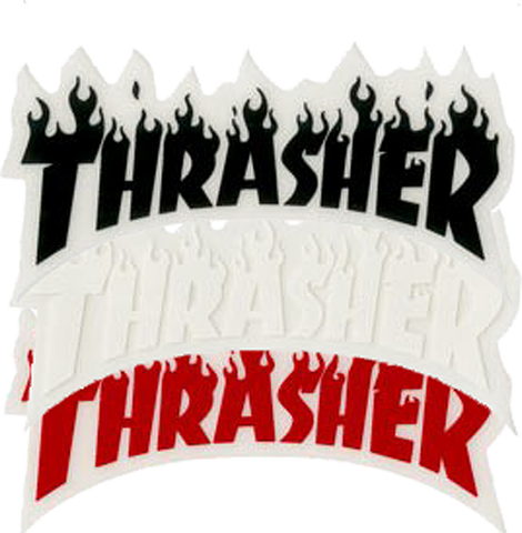 "Thrasher ""Flame"" Sticker 3"", - Aircooled - Vintage Vdub - Vw"