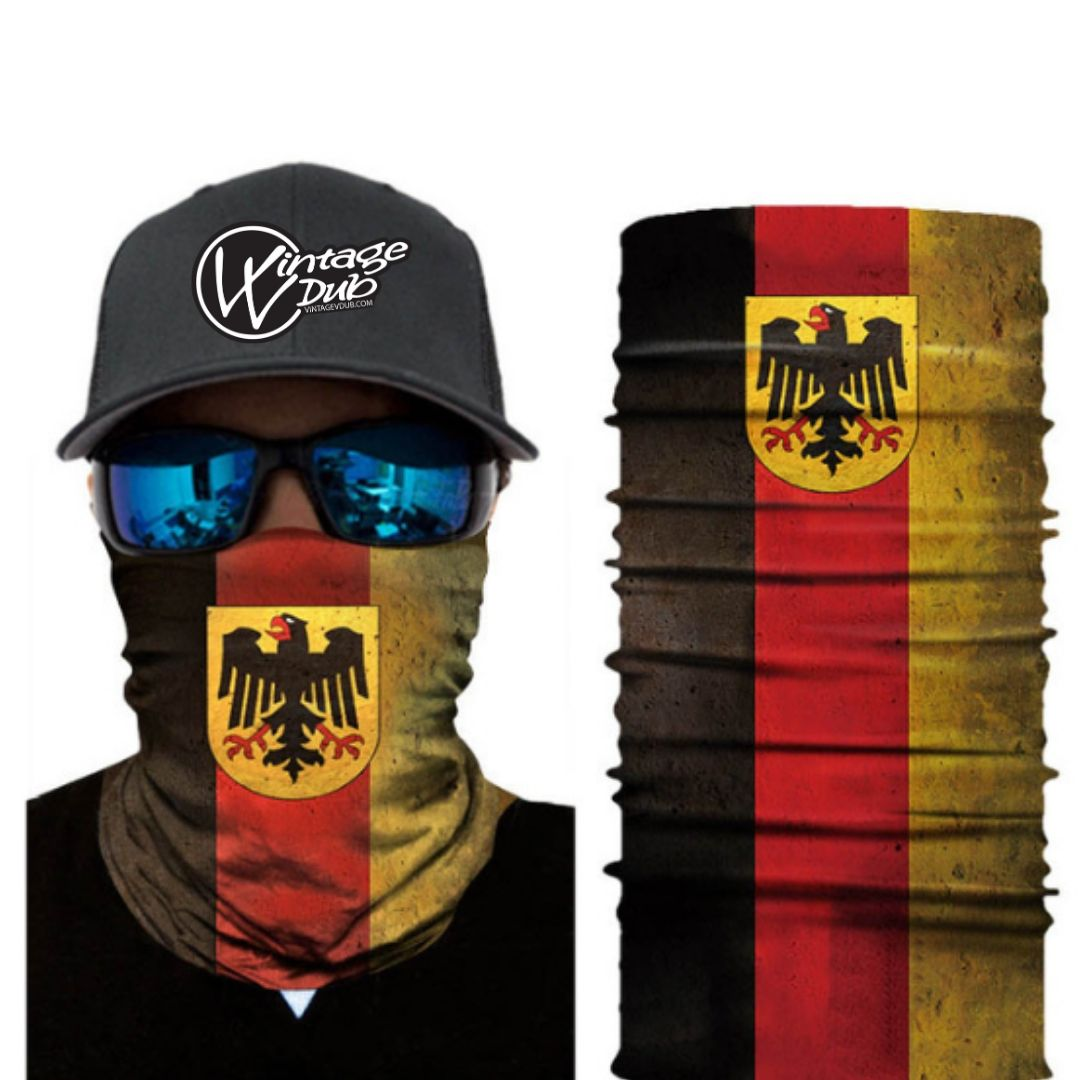 German Flag Bandana, Face Mask, - Aircooled VW - Vintage Vdub