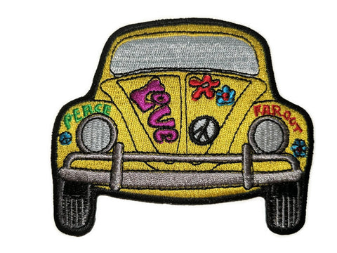 "Love Bug Patch  3.5"" W x 3.25"" H, - Aircooled - Vintage Vdub - Vw"