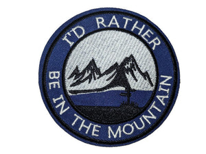 Rather Be in The Mountain Embroidered Patch - Vintage Vdub