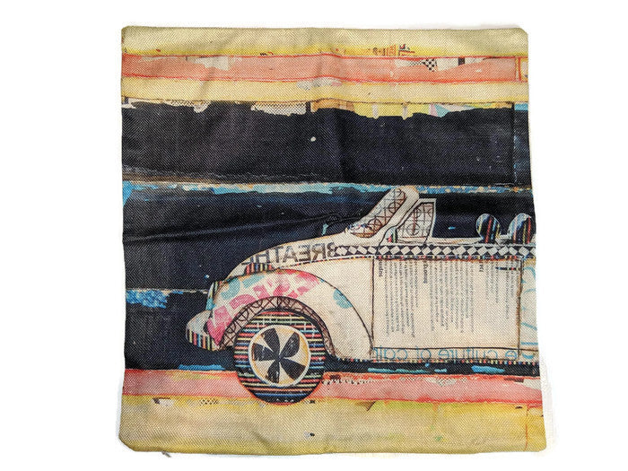 Vert Left Bug Pillow Case, - Aircooled VW - Vintage Vdub