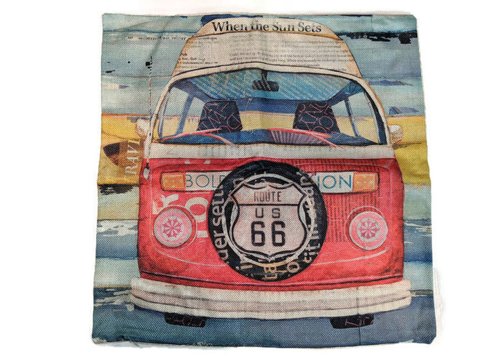 Hi Top Bus Pillow Case, - Aircooled VW - Vintage Vdub