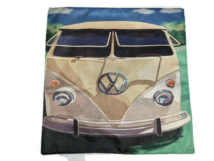 The Bulli Pillow Case, - Aircooled VW - Vintage Vdub