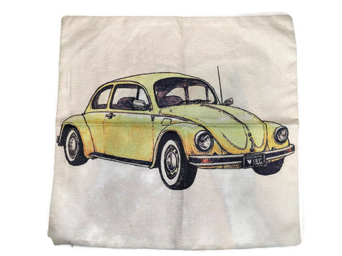 Beetle Pillow Case, - Aircooled - Vintage Vdub - Vw