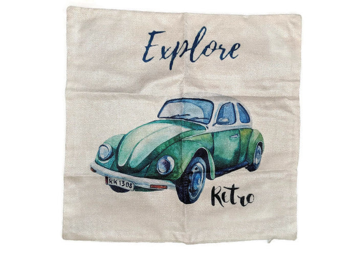 Explore Bug Pillow Case, - Aircooled VW - Vintage Vdub