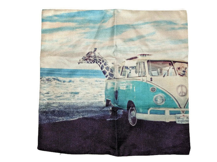 Splitty Pillow Case, - Aircooled VW - Vintage Vdub