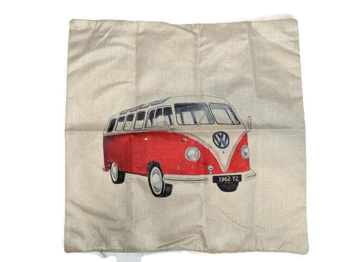 Split Window Bus  Pillow Case, - Aircooled VW - Vintage Vdub