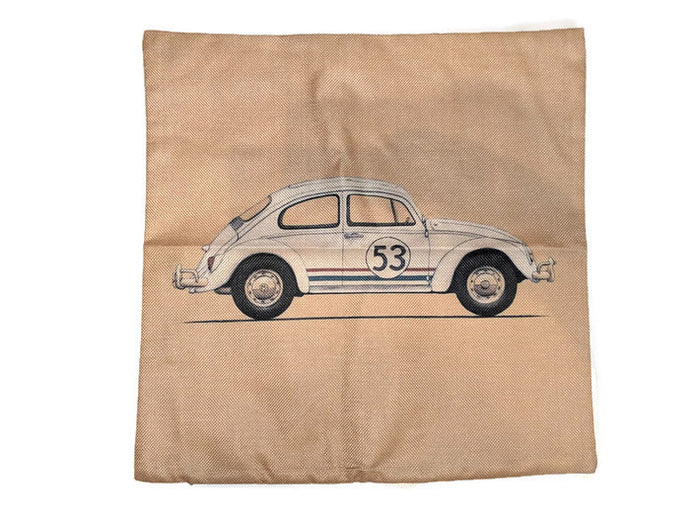 Herbie Pillow Case, - Aircooled VW - Vintage Vdub
