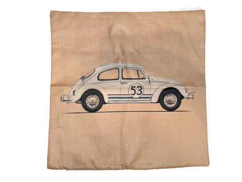 Herbie Pillow Case, - Aircooled - Vintage Vdub - Vw