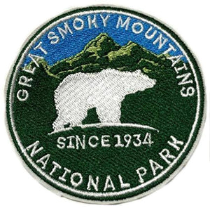 Great Smoky Mountains Embroidered Patch, - Aircooled VW - Vintage Vdub