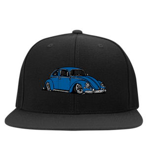 Bug Embroidered Snapback, - Aircooled VW - Vintage Vdub