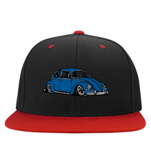 Load image into Gallery viewer, Bug Embroidered Snapback, - Aircooled VW - Vintage Vdub