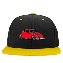 Load image into Gallery viewer, Bug Embroidered Snapback (Red), - Aircooled VW - Vintage Vdub