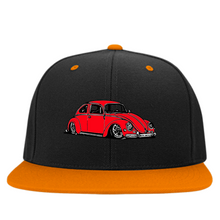 Load image into Gallery viewer, Bug Embroidered Snapback (Red) - Vintage Vdub