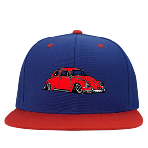 Bug Embroidered Snapback (Red) - Vintage Vdub