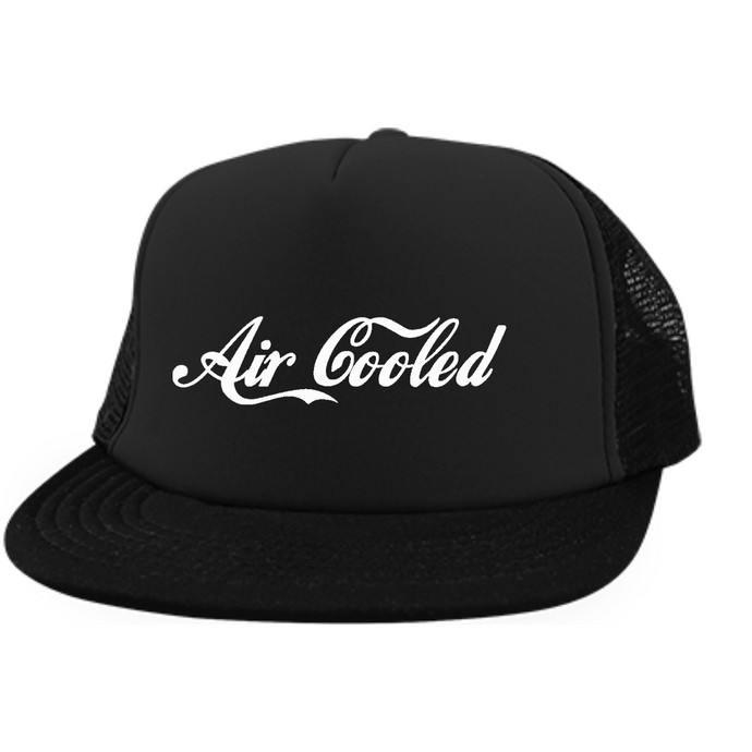 Air Cooled Embroidered Trucker, - Aircooled VW - Vintage Vdub