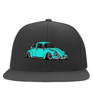 Bug Embroidered  Flexfit Cap, - Aircooled VW - Vintage Vdub