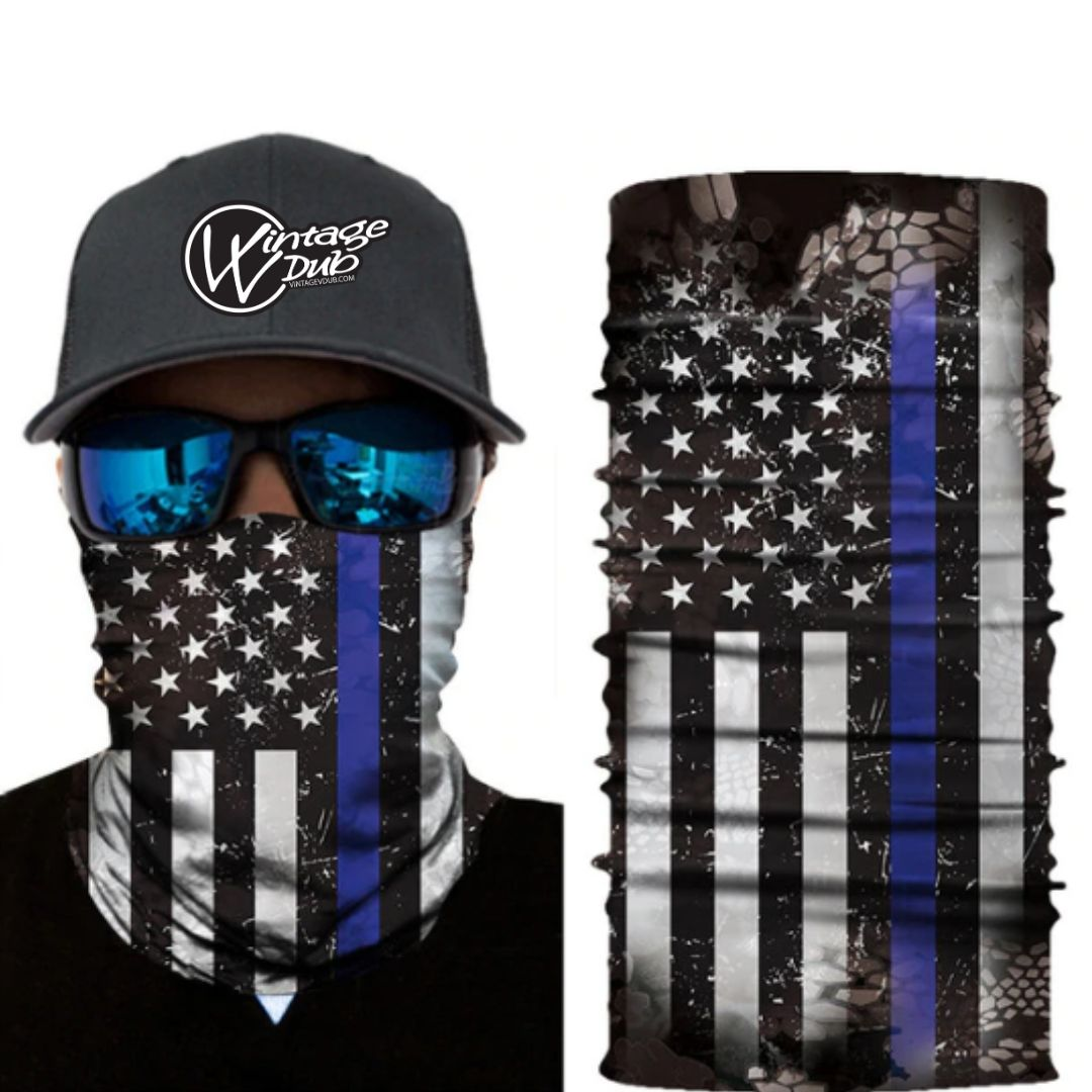 USA  Flag V.4 Bandana, Face Mask - Vintage Vdub
