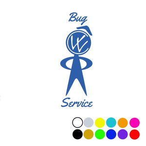 "Bug Service Decal 4.25"", - Aircooled VW - Vintage Vdub"