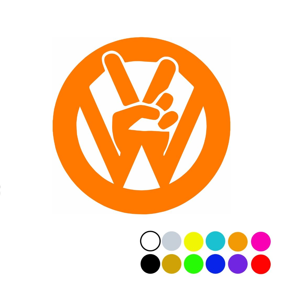 VW Peace Sign Decal  3.5