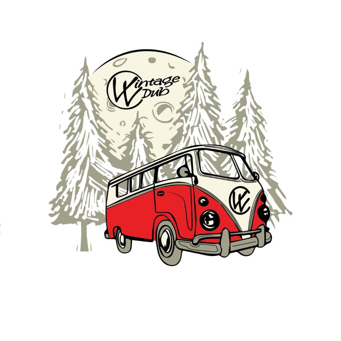 The Bulli Sticker Red, - Aircooled VW - Vintage Vdub
