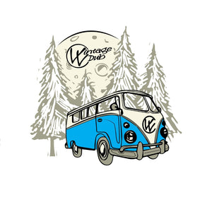 The Bulli Sticker Blue, - Aircooled VW - Vintage Vdub